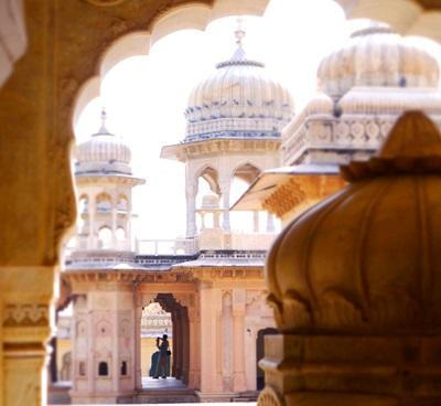 The beautiful Galtaji Temple in Jaipur, India