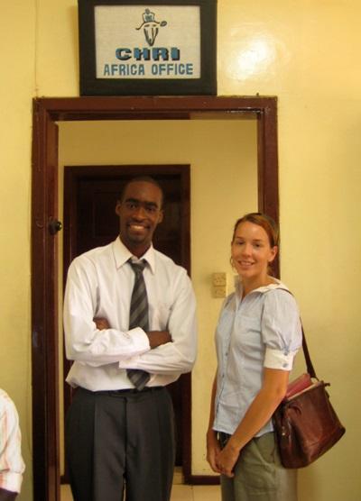 人權項目實習生在西非加納辦事處