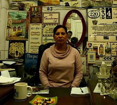 拉丁美洲商業項目其中一名受惠婦女的小店