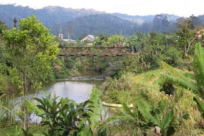 橫跨馬達加斯加河流的木橋