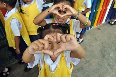 關愛項目的泰國兒童