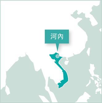 地圖:越南志工項目設立在河內