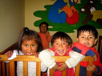 秘魯關愛志工項目的孩子正在玩耍