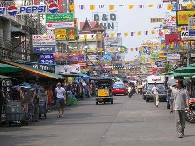 泰國市內街景,東南亞志工在工作以外的旅遊時光