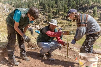 Projects Abroad秘魯考古學項目志工來到薩克塞華曼協助員工處理日常的考古遺址工作