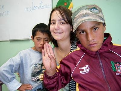 志工與秘魯需要特殊照顧的孩子