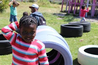 南非關愛中心孩子的燦爛笑容