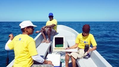 當地科學家參與貝里斯潛水和海洋環保項目,蒐集生態數據