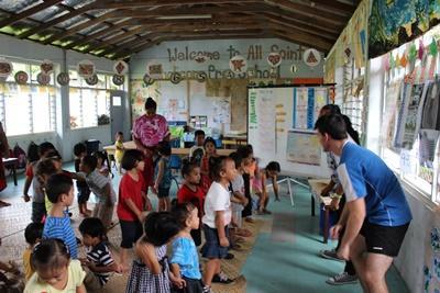 Projects Abroad薩摩亞志工為年幼孩子組織一些學習遊戲