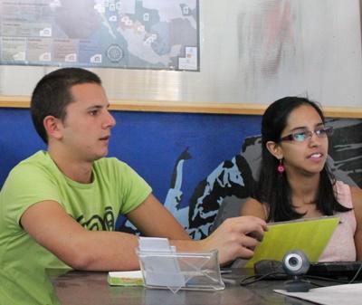 志工在墨西哥國際發展項目參與辦公室的日常工作