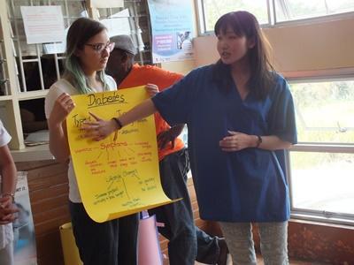 醫療保健實習生參與牙買加的醫療外展工作.