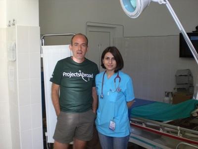 羅馬尼亞醫學項目實習生和醫學單位的員工