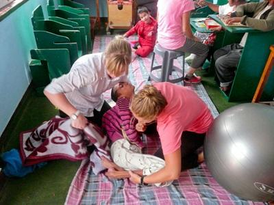 特殊照顧中心的身心障礙兒童