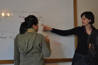 玻利維亞在大學參與教學志工項目授課