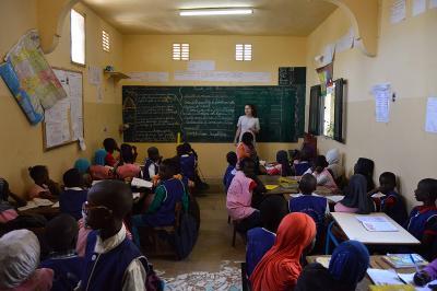 Projects Abroad教學志工在塞內加爾的教學單位負責教導一個班級