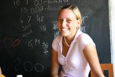 斯里蘭卡志工在課室的照片