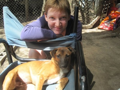動物關愛志工在阿根廷幫忙照顧體弱的狗隻