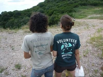 志工在阿根廷的動物復康中心工作