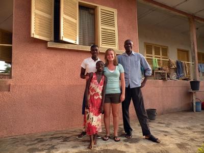 女志工在加納的寄宿家庭